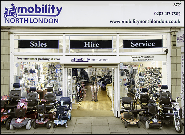 Mobility North London Shop Front