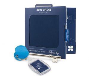 Blue Badge Wallet navy drill