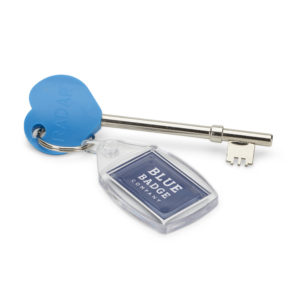 Radar Blue Heart Comfort Key