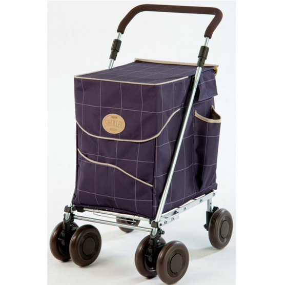 Light, stable and easy to manoeuvre, this shopping trolley has a strong lid and folds flat when not in use