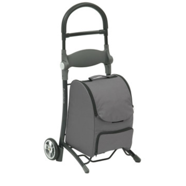 """The innovative Shop """"N"""" Sit is a unique shopping trolley and seat in one, which features an attractive and modern design"""