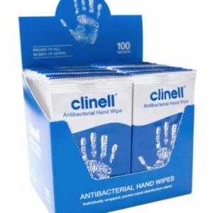 Clinell Antimicrobial Hand Wipes in individual sachets